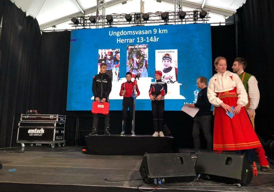 Grattis Gustav till 2:a platsen och bäste svensk i Ungdomsvasan H13-14 idag!