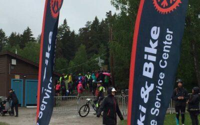 Ski&Bike Nordic på plats vid ett regnigt och hårt Lida Loop