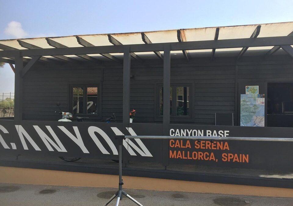 Ski&Bike Nordic på besök hos Canyon Base i Cala Serena på Mallorca