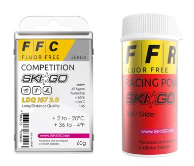 SKIGOs nya fluorfria racing vallor finns nu webshopen