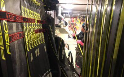 Skidmätning tillsammans med Marcus Laggar för klubbarna inom Skidallians Stockholm
